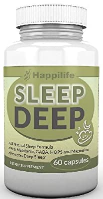 Happilife Sleep Deep Aid All Natural Herbal Supplement, Contains Valerian Root Melatonin Magnesium and Gaba, 60 Vegetarian Capsules