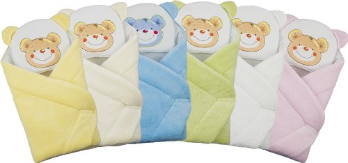 BlueberryShop FLEECE with Pillow Very WARM and Cute Swaddle Wrap, Blanket, Sleeping Bag, baby shower GIFT PRESENT 0-3m ( 0-3m ) ( 78 x 78 cm ) Cream