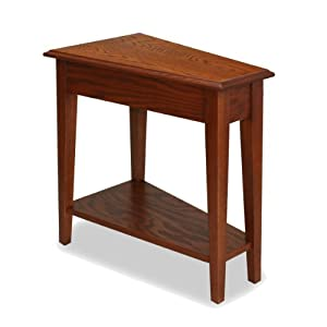 Simple The Features Leick Recliner Wedge End Table Medium Oak