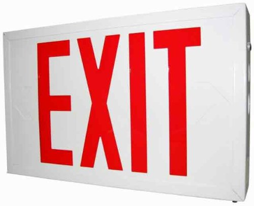 Sure-Lites Slx6 Led Commercial Steel Exit, White, Universal Face, Red And Green Letters