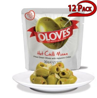 Oloves Healthy Olive Snack, Pitted Green Olives