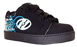 Heelys Girls Dreamer Black/blue Lace Up One Wheel Skate Shoes