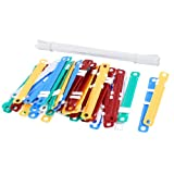 50 Sets Assorted Color Documents Files Metal Clamps Paper Fasteners