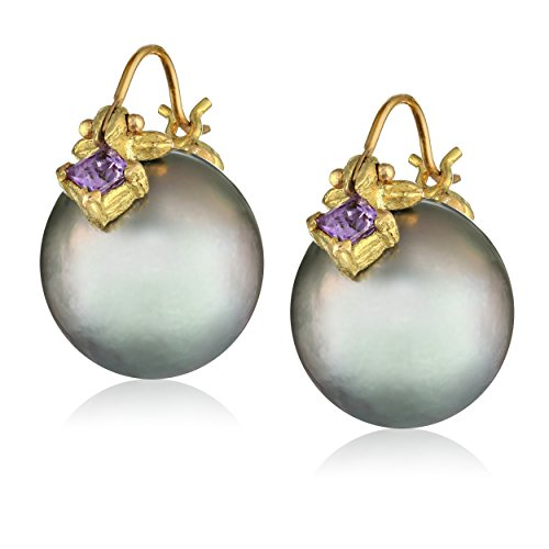 Gabrielle-Sanchez-Grey-Tahitian-Pearl-125x13mm-Flyer-with-Princess-Cut-Sapphire-Earrings