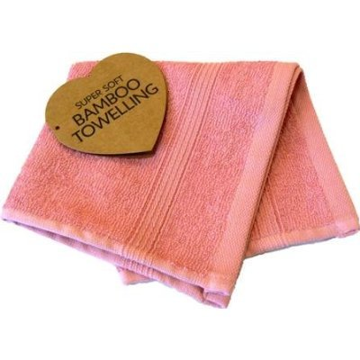 Bamboo Flannels, Face/wash Cloth - Luxury Elegance Towel Range (rose)
