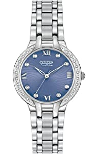 "Citizen Women's EM0120-58L ""Bella"" Analog Display Japanese Quartz Silver Casual Watch"
