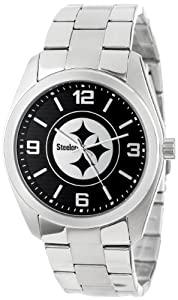 Game Time Unisex NFL-ELI-PIT Elite Pittsburgh Steelers 3-Hand Analog Watch by Game Time