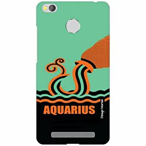 Design Worlds Redmi 3S Prime Back Cover - Aquarious Designer Case and Covers