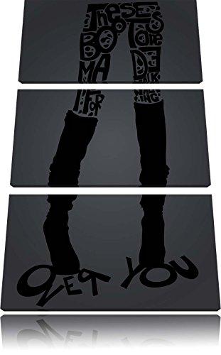 Su di voi immagine nera Tela 120x80 immagine su tela 3 pezzi, enorme XXL Immagini completamente incorniciata con barella, incorniciatura sulla foto parete con cornice, più economico di pittura o un dipinto a olio, non un manifesto o un banner