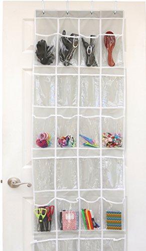 24 Pockets U2013 SimpleHouseware Crystal Clear Over The Door Hanging Shoe  Organizer ...