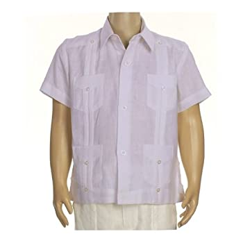 Boys linen short sleeve guayabera in lavender. Final sale