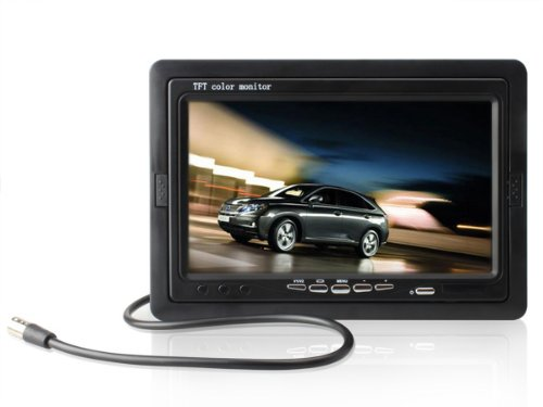 Brand New 7 Inch Tft Lcd Digital Car Rear View Monitor With Remote And Stand