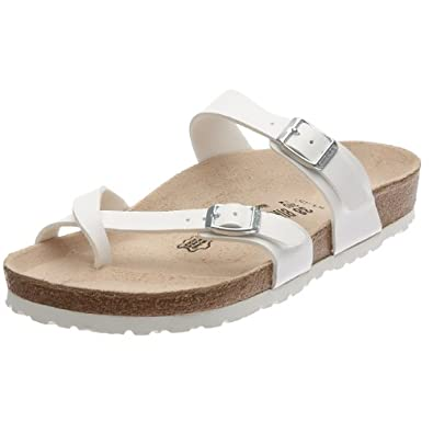 Thong ''Mayari'' from Birko-Flor in White with a regular insole: Shoes