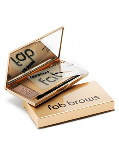 FAB BROWS-POUDRE DE SOURCILS LIGHT BROWN avec pochoirs
