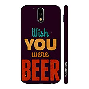 Enthopia Designer Hardshell Case Wish You Were Beer Back Cover for Motorola G4 Play
