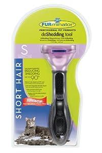 FURminator Fellpflege deShedding-Pflegewerkzeug für kurzhaarige kleine Katzen bis 4,5 kg, Größe S, 1 Tool