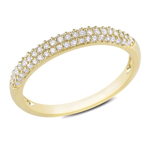 Sterling Silver 1/4 CT TDW Diamond Eternity Ring (G-H, I3)