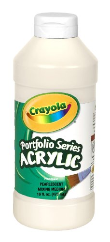 Crayola Portfolio Series 16-Ounce Acrylic Paint, Pearlescent Mixing Medium - 1