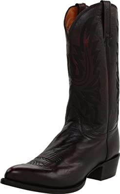Lucchese Classics Men's M1021 Boot,Black Cherry Lonestar Calf Cowboy,7.5 D (M) US