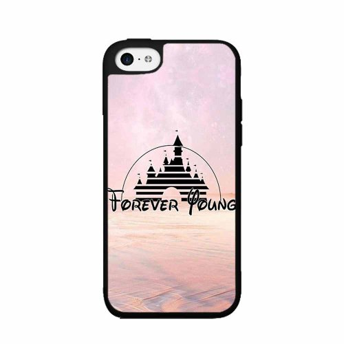 Castle Inspired Forever Young - 2-Piece Dual Layer High Impact Phone Case Back Cover (Iphone 5/5S)
