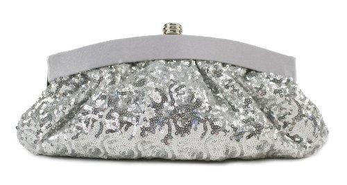 Scarleton Satin Soft Frame Clutch H300617 - Silver