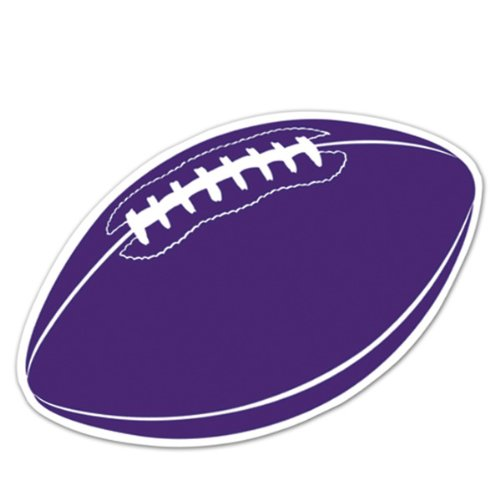 Football Cutout (purple) Party Accessory  (1 count) - 1
