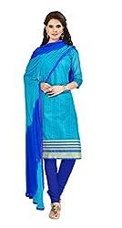 Khoobee Presents Banarasi Dress Material(Sky Blue,Blue)