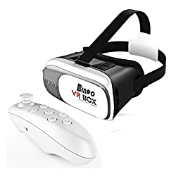 Bingo VR BOX Pro Version VR Virtual Reality 3D Glasses +Smart Bluetooth Wireless Mouse/Remote Control Gamepad