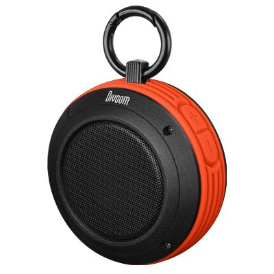 Divoom Voombox Travel Orange Outdoor Water Resistant Bluetooth Portable Speaker With Mic For Apple Iphone 5, 4S, 4, Ipod, Ipad, Mac, Tablet, Samung Galaxy S3, S2, Windows, Latptop, Mp3 Player, Official Usa Seller