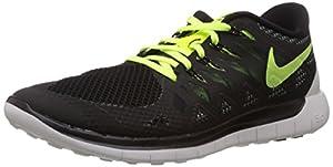 Nike Nike Free 5.0, Herren Laufschuhe, Schwarz (BLACK/BLACK-VOLT-WHITE 007), 43 EU