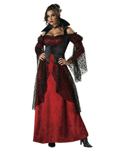 Sexy Vampiress Gown Theatre Costumes Vampire Victorian Style Gothic Couples Cost
