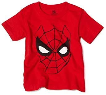 Marvel Little Boys' Spiderman Face T-Shirt, Red, 2T