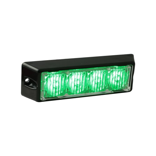 Lamphus Solarblast 4W Led Emergency Vehicle Deck Grille Strobe Warning Light Head ( Other Color Available ) - Green