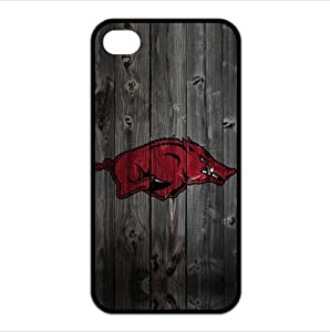 Great Wood Pattern NCAA Arkansas Razorbacks Iphone 4/4s TPU Cases Covers