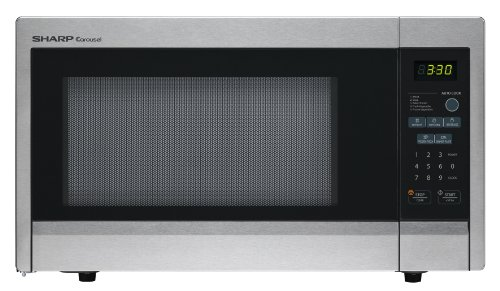 Sharp Carousel R-331ZS 1.1 Cubic Feet 1000-watt Countertop Microwave Oven, Stainless Steel