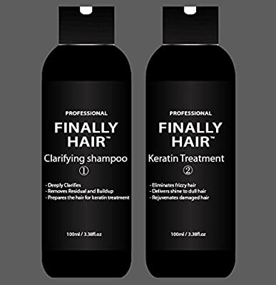 Keratin Straightening Smoothing Treatment & Clarifying Shampoo Kit 200ml