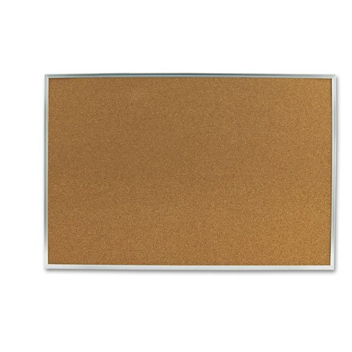 Quartet Products - Quartet - Cork Bulletin Board, 36 x 24, Aluminum Frame - Sold As 1 Each - Keep important information on display. - This hard-working, natural cork board creates a convenient display center in break rooms, factory floors, warehouses and more. - Long-lasting, dense, durable cork holds push pins tightly and self-seals when they're removed. - Anodized aluminum frame. - Easy-to-hang board has factory-installed SureLoxTM mounting system.