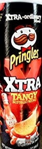 Xtra Tangy Buffalo Wing Flavored Pringles Potato Crisps, 5.96 oz (2 Pack)