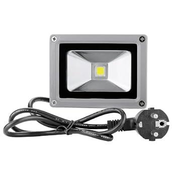 10W LED Fluter mit Bewegungsmelder Lampe Außen Flutlicht Strahler kaltweiß 220V
