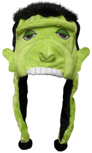 Halloween Frankenstein Dangle Hat with Pomsl