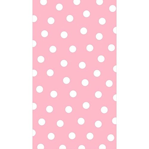"Amscan Decorative Pastel Polka Dot Party Paper Hand Towels (16 Pack), 4-1/2 x 7-3/4"", Pink"