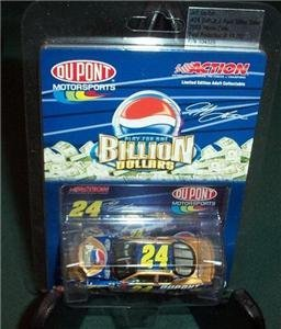 Jeff Gordon #24 Dupont Pepsi Billion Dollar Challenge 2003 Monte Carlo Hood Open 1/64 Scale Car Action Racing Collectables Limited Production - 1