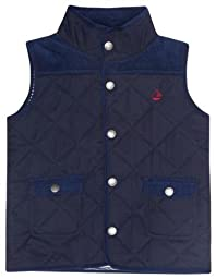 JoJo Maman Bebe Baby Girls\' Quilted Gilet - Navy - 12-18 Months