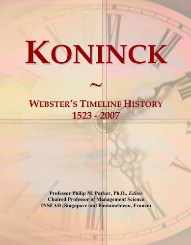 koninck-websters-timeline-history-1523-2007