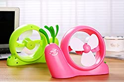 Pindia Pink Plastic Shell Snail Shape USB Power Cool Fan