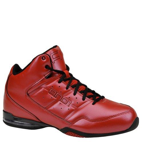 AND1 Men's Master Mid Basketball Shoe (11, Varsity Red/Varstiy Red/Black)