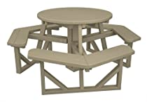 "Hot Sale POLYWOOD PH36SA Park 36"" Round Picnic Table, Sand"