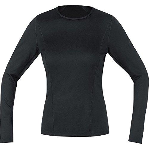 Gore Running Wear UESLLD990005 Gore Running Wear, Maglia Donna a Maniche Lunghe, Biancheria Intima, Gore Selected Fabrics, Essential Bl Lady Long, Taglia 40, Nero