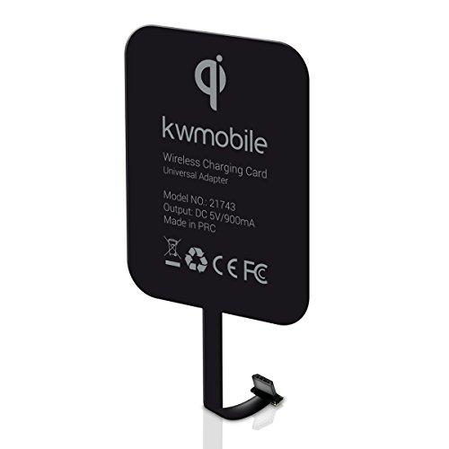 kwmobile Universal Qi Ladeempfänger für Smartphones mit MicroUSB Anschluss*