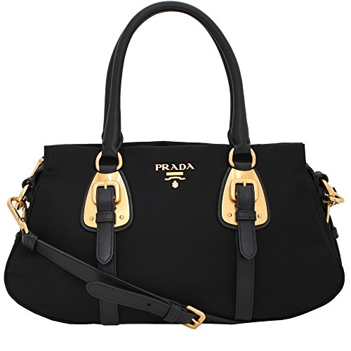 280be63330f900 Prada Tessuto Black Nylon Leather Convertible Top Handle Satchel Bag  Shoulder Handbag BN2864 - SHOP HANDBAG BOUTIQUE